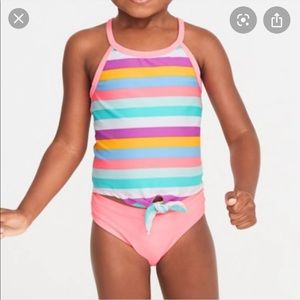 Toddler Girls 2T Old Navy Tankini Striped NWT